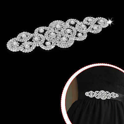 """GB111 Silver Embroidered Applique Iron On Patch 5/"""" DIY Crafts Costumes"""