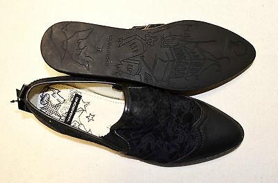 VAGABOND Halbschuhe schwarz Gr 37 mit ECHT Leder NP 50,- Slipper Stoff S1272