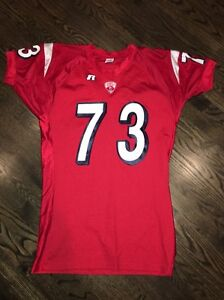 Game Worn Used Cornell Big Red Football Jersey Russell #73Size XL