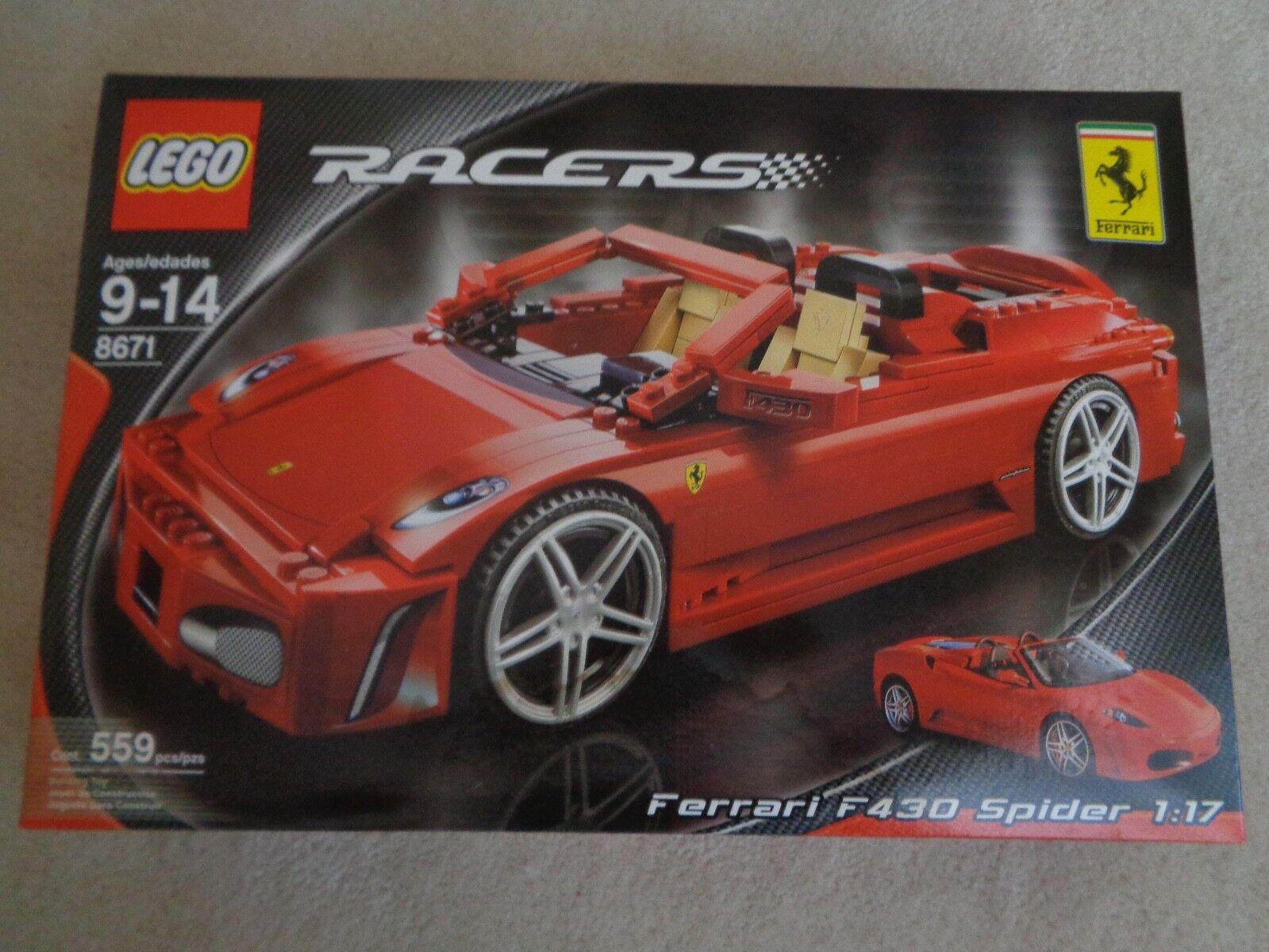 LEGO Racers 8671 Ferrari  F430 Spider 1 17, 9-14 Ans, 559 Pcs, Neuf et Scellé  service honnête