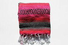 Yoga* Mat Red,Yellow Green /& Black RASTA Serape blanket Mexican Falsa Blanket