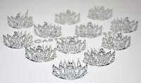 12 Princess Silver Crowns Mini Plastic Tiara Birthday Party Favors Recuerdos