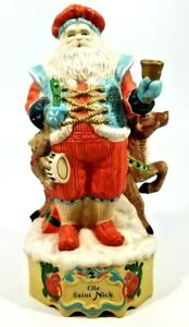 "Victorian  Porcelain Musical Old Saint Nick 10 1/2"", Plays Hear Comes Santa"