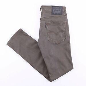 Vintage-Levi-039-s-511-schwarz-Tab-Slim-Straight-Fit-Herren-grau-Jeans-w29-l32