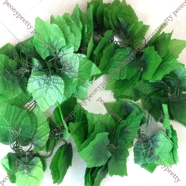 long artificial grape leaves plant foliage vine home porch wedding party decor