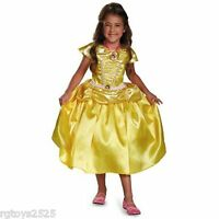 Disney Princess Beauty And The Beast Belle Costume 3-4 Toddler Cameo Locket