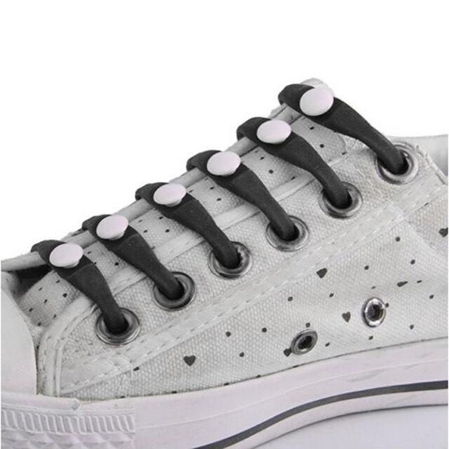 12 Stk Silikon Schnurbänder Schuhsenkel Schuhband Shoelaces Slip On  Heiß P F6Z3