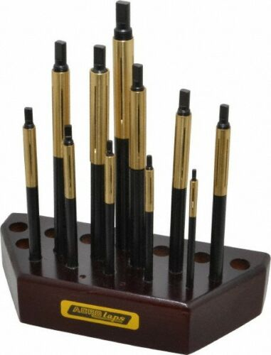 """Made in USA 11 Piece Barrel Lap Set 3//16 to 1//2/"""" Hole Diam"""
