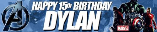2 x Avengers Personalised Childrens Birthday Banner.