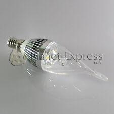Bombilla 3W LED E14 Vela larga Blanco Frio Color Plata 220V 240 lumen euiv.25W