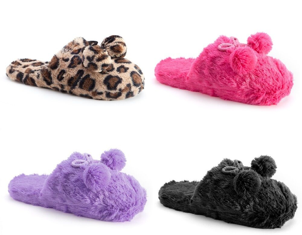 SO Plush Pom Pom Clog Slippers Scuffs  ~ Several Colors & Sizes to Choose From!