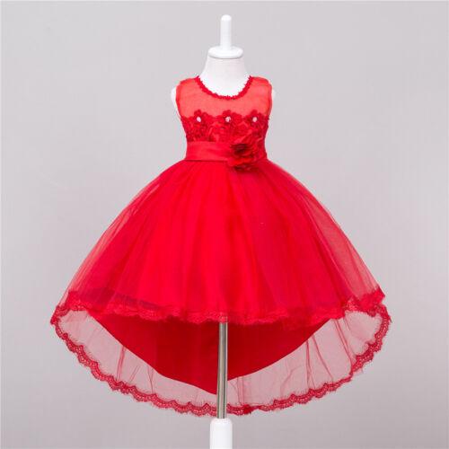 New Kids Party Flower Girl Dress Baby Wedding Bridesmaid Formal Dresses Princess