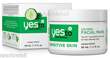 Yes To Cucumbers Organic Calming Facial MASK For Sensitive Skin 50ml Face Masque