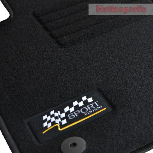 Velours Sport Logo Fußmatten 4-tlg für Opel Astra H Twin Top ab Bj.05//2005