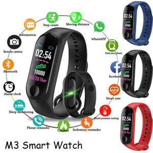 Bracciale-con-frequenza-cardiaca-M3-Smart-Watch-Sports-Trakcer-Calorie-Steps