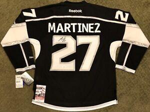 buy popular 2db65 846a5 Details about ALEC MARTINEZ SIGNED LOS ANGELES KINGS RBK PREMIER JERSEY NHL  AUTO +JSA COA
