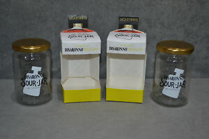 Details about Pair Of (2) Disaronno Sour Jar With Lid Mixing Jars In Box  Amaretto Cocktail New