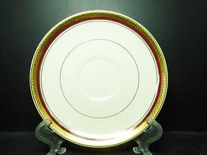 MYOTT-TUDOR-SAUCER-ONLY-HW720-BURGUNDY-RED-4
