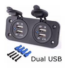 12v Double USB Socket Dual Charger Camper Van Motorhome Caravan Charging Ports
