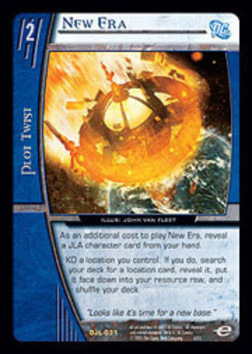 DC Justice League of America TCG C Moderately Played Foil VS System: New Era