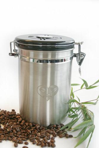 Kaffeedose Edelstahl Vorratsdose Aromadose mit Aromaventil für Frische
