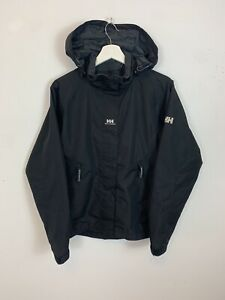 Herren-Vintage-Helly-Hansen-Windbreaker-Jacke-Mantel-Schwarz-UK-Groesse-S-Small