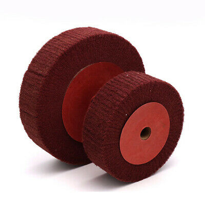 "1 Holder 6x 3/"" Scotch Brite Roloc Medium Red Nylon Scour Polishing Pad Grinding"