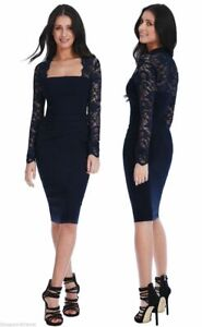 Goddess-Long-Lace-Sleeve-Bengaline-Wiggle-Bodycon-Evening-Cocktail-Party-Dress