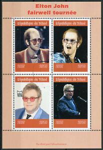 Audacieux Tchad 2019 Cto Elton John 4 V M/s Music Célébrités Famous People Stamps-afficher Le Titre D'origine Excellent Effet De Coussin