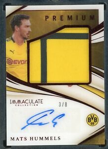 2020 PANINI IMMACULATE SOCCER MATS HUMMELS PREMIUM AUTO PATCH 3/8 BVB