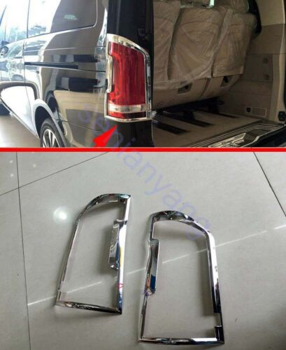 Chrome Rear Light Lamps Cover Trim for 2016-2018 Mercedes-Benz Vito Decoration