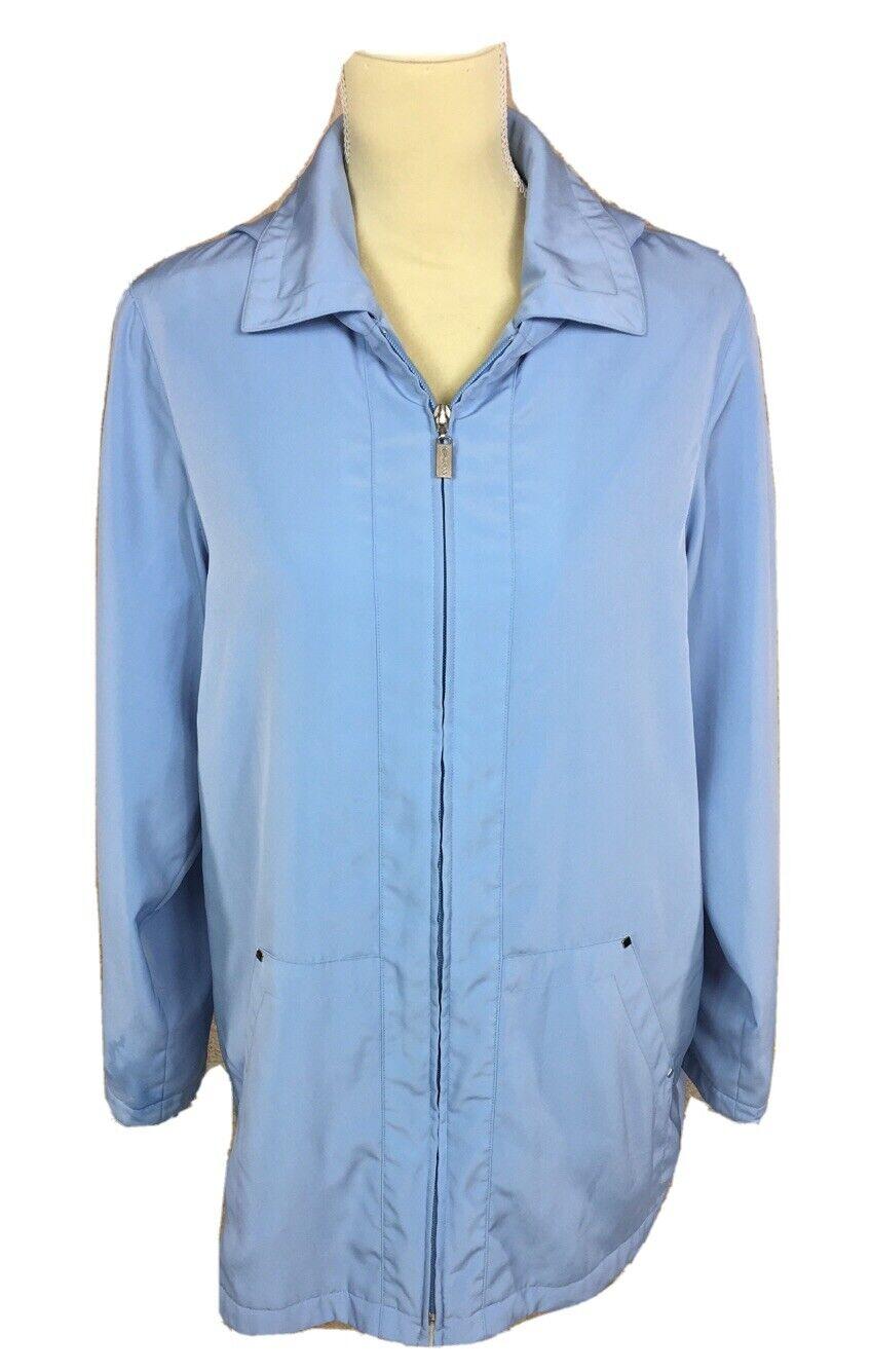 Bernardo Collection Nordstrom Women's S Blue Hooded Lightweight Rain Jacket