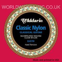 D'ADDARIO EJ27H CLASSIC NYLON Guitar Strings HARD
