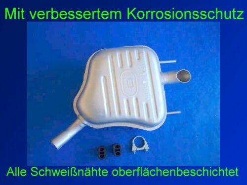 Kit 81kw-103kw Endschalldämpfer Endtopf Auspuff Opel Vectra C 1.8 Limousine