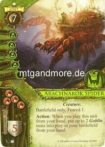 Warhammer-Invasion-2x-Arachnarok-Spider-025-Fragments-of-Power