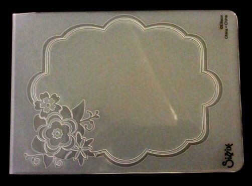 Sizzix Large Embossing Folder FRAME ORNATE WITH FLOWER fits Cuttlebug & Wizard