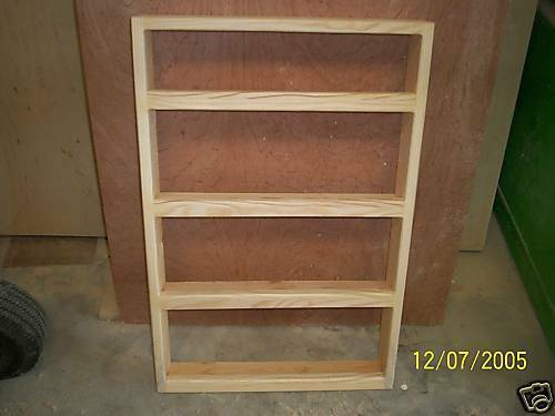 Solid Pine 4 Shelf 24 X 12 Wood E Rack Wall Mount With 2 Inch Working Ebay