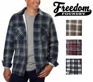 Nwt Freedom Foundry Mens Plush Plaid Fleece Sherpa Lined