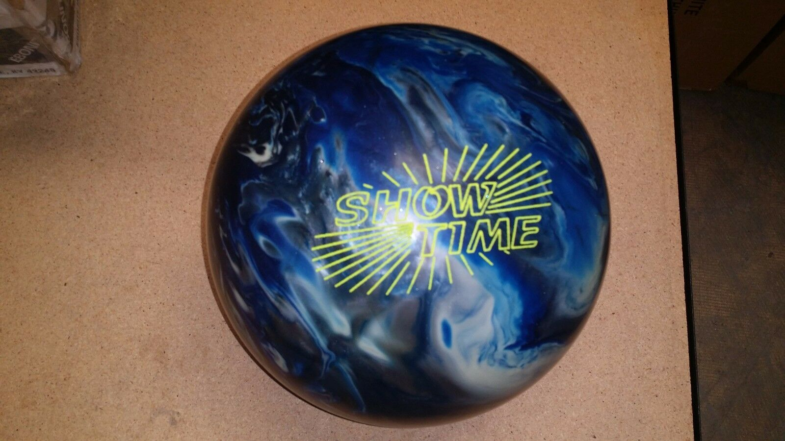 15Ebonite ShowTime Sanded  NEW  Bowling Ball  RARE  15.03 2-3 Pin 3.25 TW