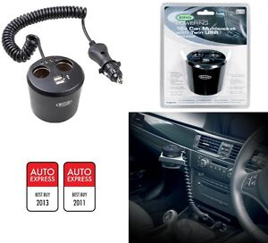 Ring-Auto-Mehrfachsteckdosen-Splitter-USB-Verbindung-Adapter-Passt-12V-RMS10