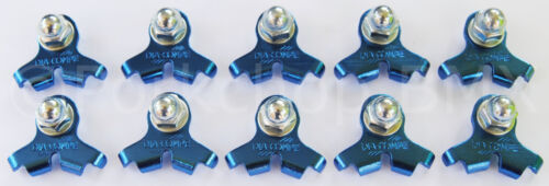 10 PACK BLUE Dia-Compe 2001 bicycle cantilever U-brake brake cable hanger