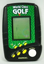 Radica World Class Golf Hand Held Travel Electronic Game 3730 Tested Working EUC