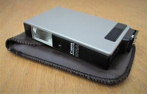 VINTAGE-Canon-Speedlite-011A-Camera-Flash-with-Case-PARTS-REPAIR