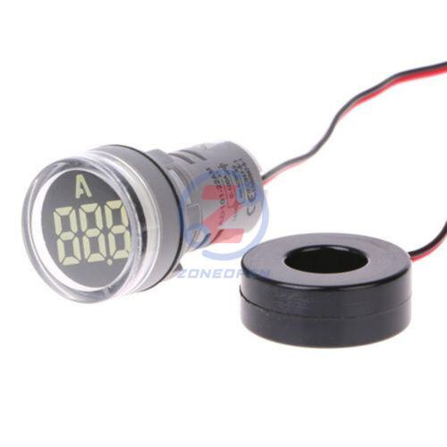 AC 220V 0-100A Digital Display Ammeter Monitor Current Measuring Round Meter