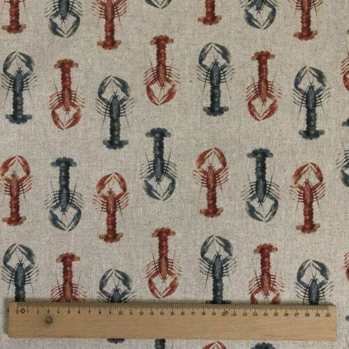 """Langostas de impresión digital de algodón rico tejido de lino cortinajes Tapicería 54/"""" de ancho"""