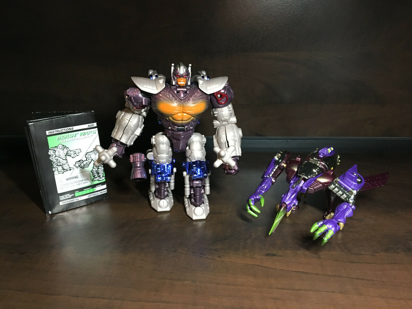 Transformers Beast Wars Transmetal Lot of 2 - Optimus Primal, Terrorsaur