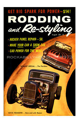Neu Hot Rod Plakat 11x17 Rodding Und Re-styling Für Royal Roadster Race Poster & Bilder