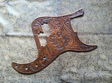 Custom Tooled Leather Pickguard Fender Precision P Bass Deluxe 20 Fret