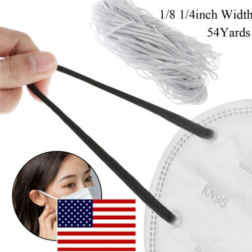 54 Yards Knit Band 1//8 1//4 in Sewing Trim Elastic Band Stretch Rope Ribbon Cord☆