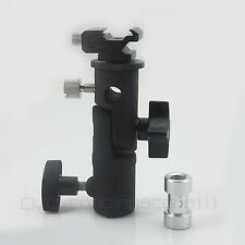 Flash Bracket Hot Shoe Umbrella Holder Mount Light Stand For DSLR Camera E Type